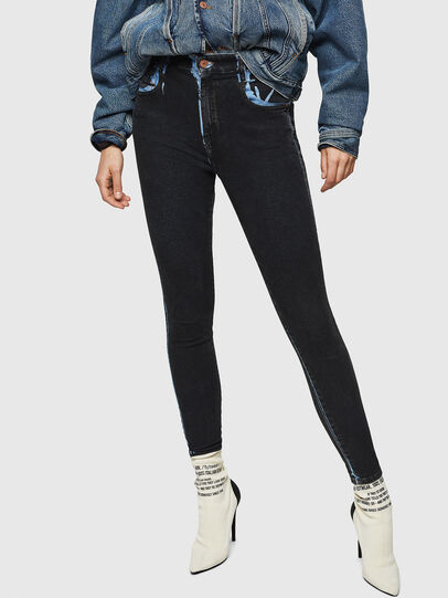 Diesel - Slandy High 0094B, Bleu Foncé - Jeans - Image 1