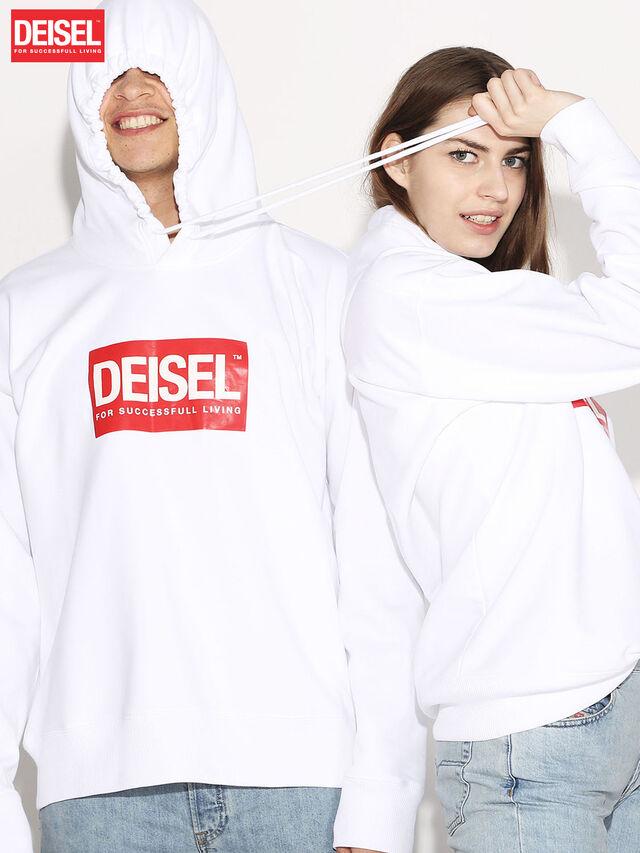 Diesel - DEIS-SHOOD, Blanc - Pull Cotton - Image 1