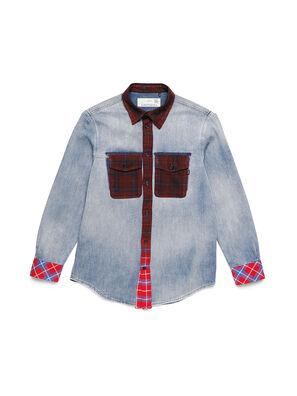 D-DEEPCHECK-A, Bleu/Rouge - Chemises en Denim