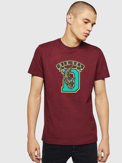 Diesel - T-DIEGO-B4, Bordeaux - T-Shirts - Image 1