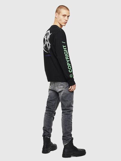 Diesel - T-JUST-LS-VINT, Noir/Blanc - T-Shirts - Image 6