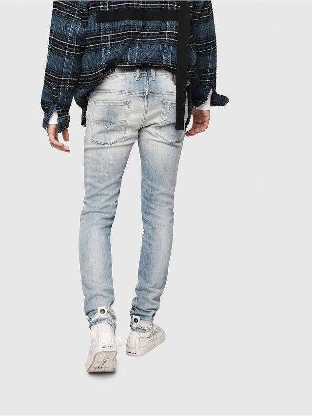 Diesel - Sleenker 081AJ, Bleu Clair - Jeans - Image 2