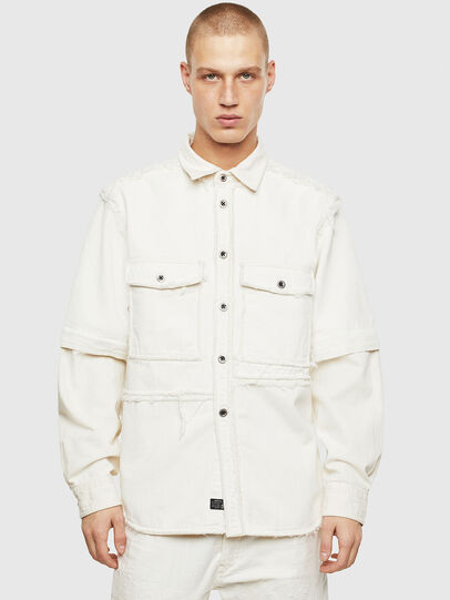 Diesel - D-KURTIS, Blanc - Chemises en Denim - Image 1