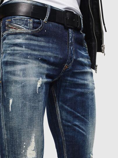 Diesel - Sleenker 0097L, Bleu Foncé - Jeans - Image 3