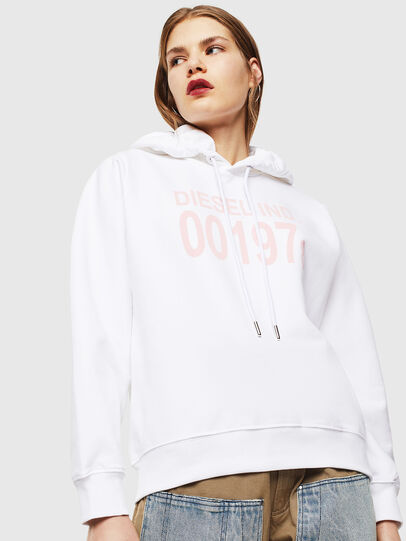 Diesel - F-ANG-HOOD-J1, Blanc - Pull Cotton - Image 1