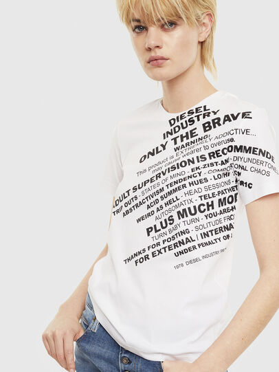 Diesel - T-SILY-S1, Blanc - T-Shirts - Image 1