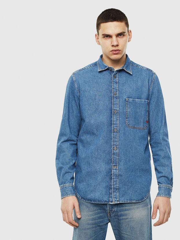 D-BER-P, Jean Bleu - Chemises en Denim