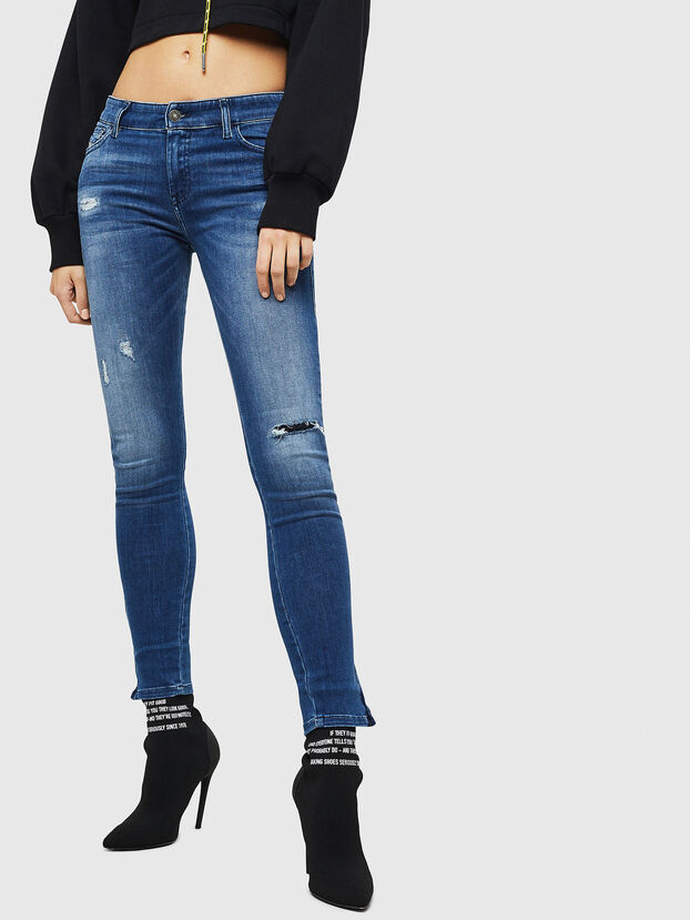 Slandy Zip 089AI, Bleu moyen - Jeans