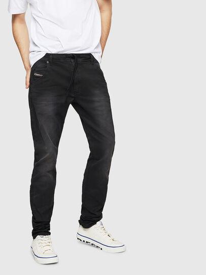 Diesel - Krooley Long JoggJeans 0670M, Noir - Jeans - Image 1