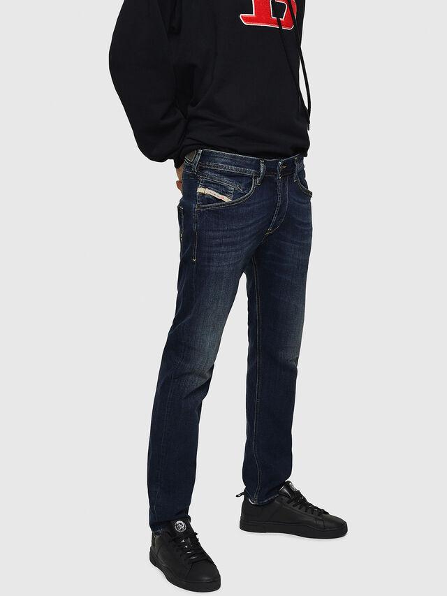 Diesel - Belther 0814W, Bleu Foncé - Jeans - Image 3