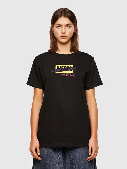 Diesel - T-DARIA-R2, Noir - T-Shirts - Image 1