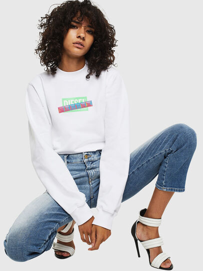 Diesel - F-ANG-S1, Blanc - Pull Cotton - Image 3