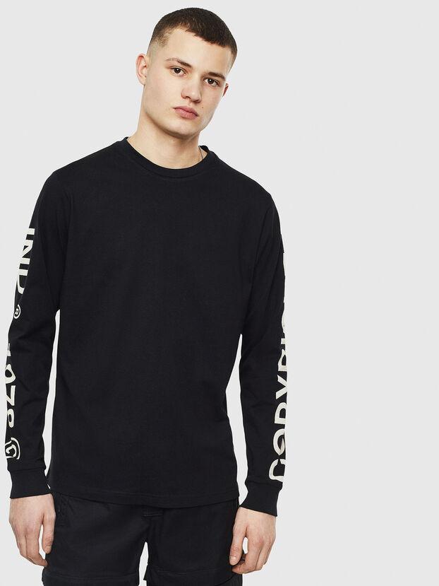 T-JUST-LS-T14, Noir - T-Shirts