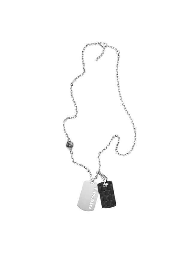 Diesel - NECKLACE DX1014, Gris argenté - Colliers - Image 1