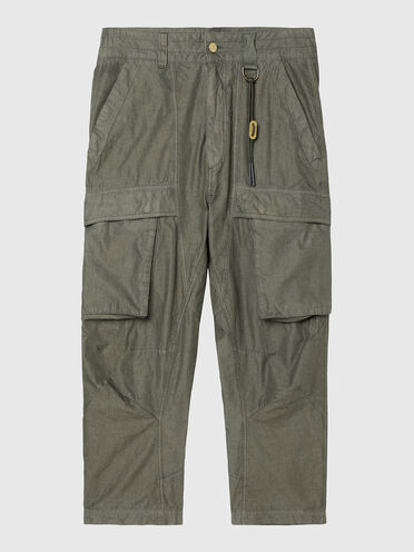 Pantalon cargo en coton mélangé