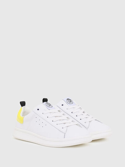 Diesel - SN LOW LACE 11 FULL, Blanc/Jaune - Footwear - Image 2