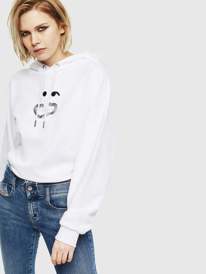 Diesel - F-ANG-HOOD-S1, Blanc - Pull Cotton - Image 4