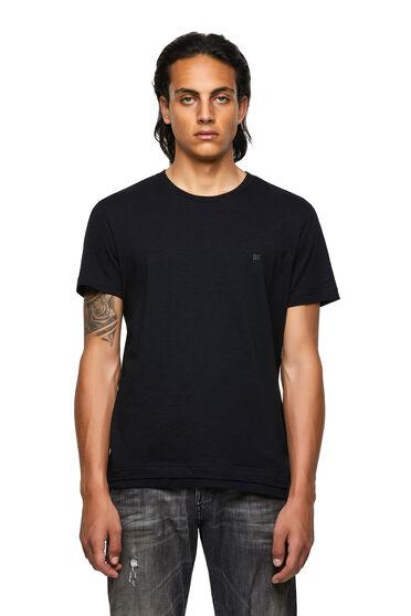 T-shirt à double ourlet en coton flammé