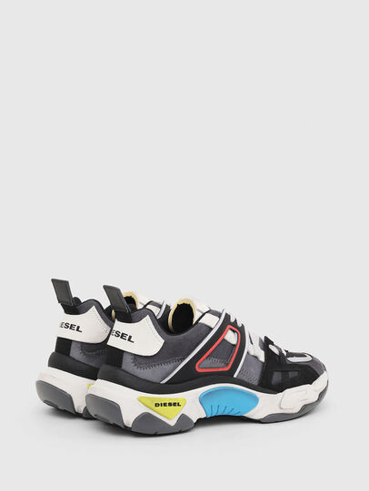 Diesel - S-KIPPER LOW TREK II, Gris/Blanc - Baskets - Image 3