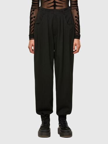 Pantalon en laine fraîche avec bords bruts