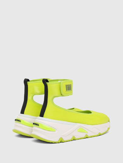 Diesel - S-HERBY BA W, Jaune - Chaussures Plates - Image 3