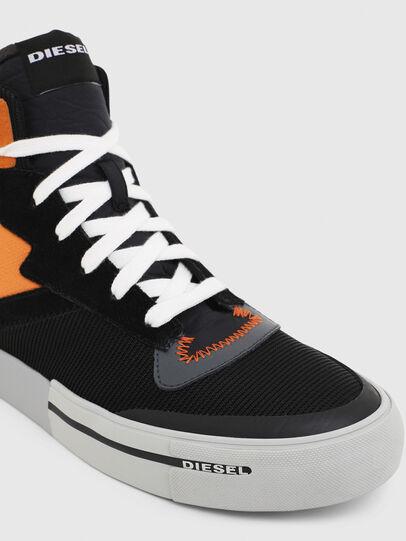 Diesel - S-DESE MS, Noir/Orange - Baskets - Image 4