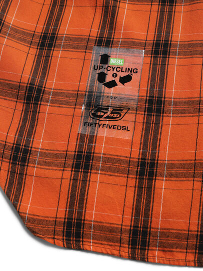 Diesel - D-ANORACHECK, Orange - Chemises - Image 4