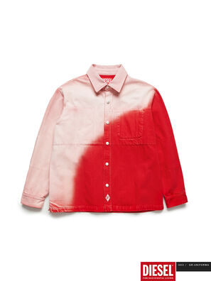 GR02-B301, Rouge/Blanc - Chemises en Denim