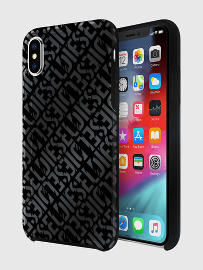 Diesel - DIESEL PRINTED CO-MOLD CASE FOR IPHONE XS & IPHONE X, Noir - Coques - Image 1