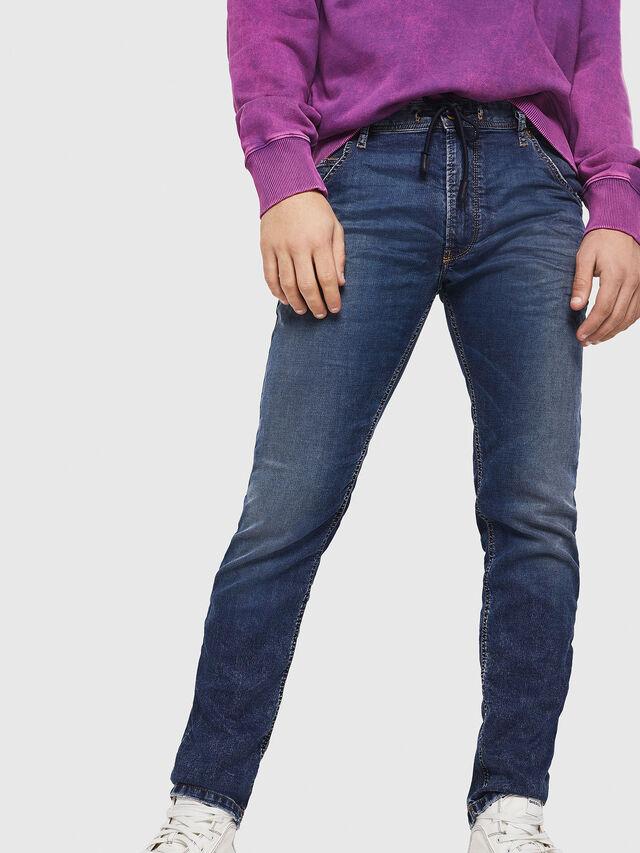 Diesel - Krooley JoggJeans 069FG, Bleu Foncé - Jeans - Image 4