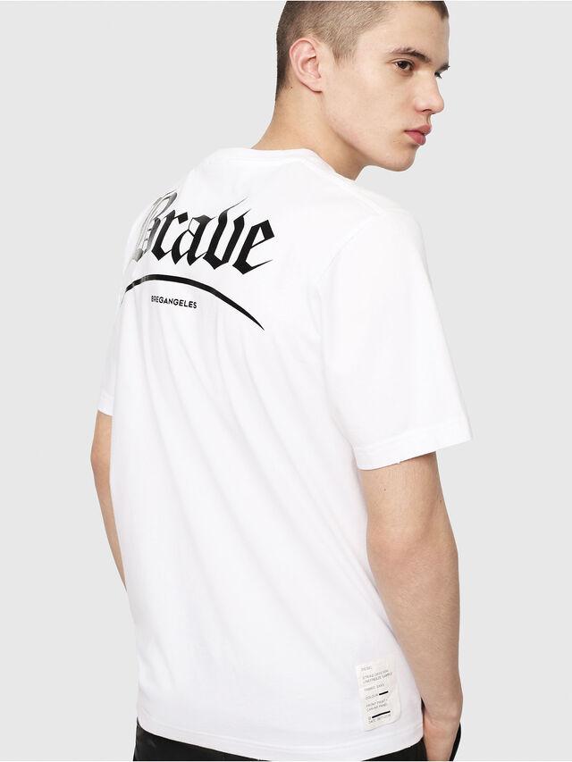 Diesel - T-JUST-Y14, Blanc/Noir - T-Shirts - Image 2