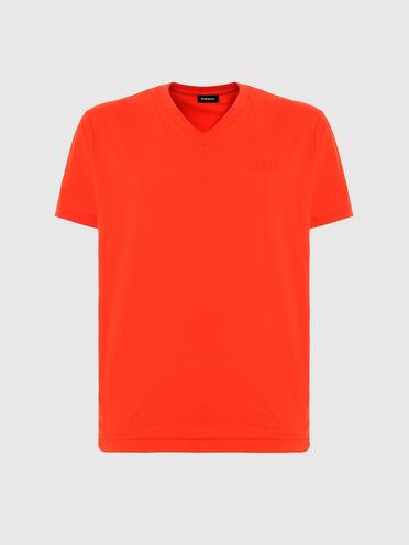 T-shirt à col en V avec base double épaisseur