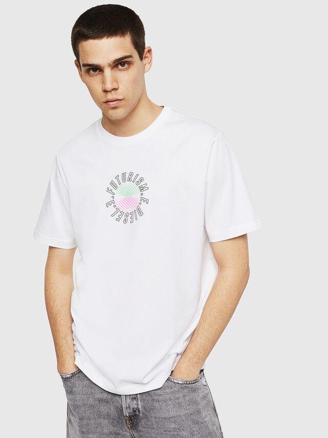 Diesel - T-JUST-Y19, Blanc - T-Shirts - Image 1