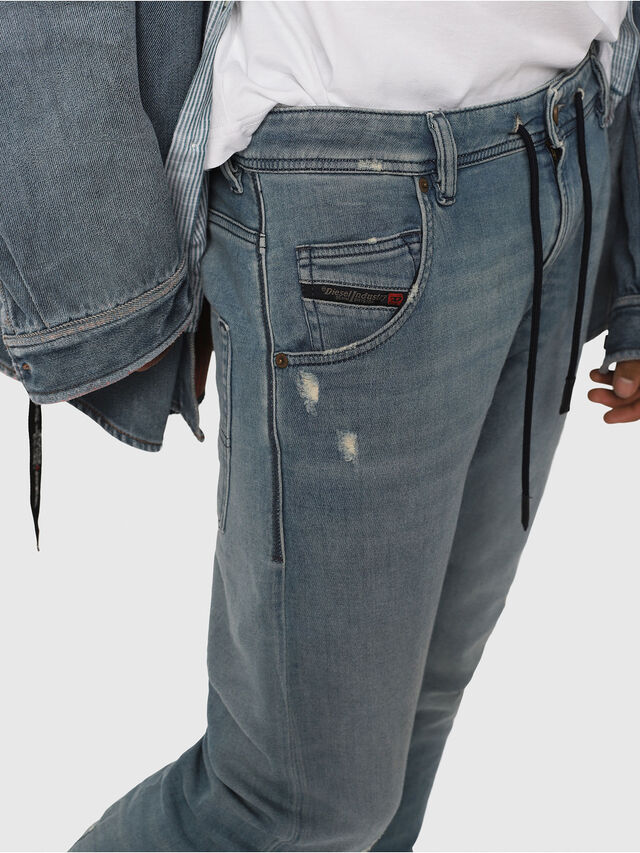 Diesel - Krooley JoggJeans 086AY, Bleu Clair - Jeans - Image 4