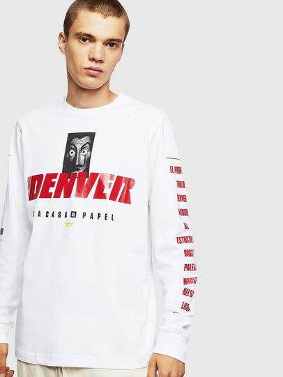 Diesel - LCP-T-JUST-LS-DENVER, Blanc - T-Shirts - Image 1