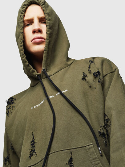 Diesel - S-ALBY-RIP, Vert Militaire - Pull Cotton - Image 4