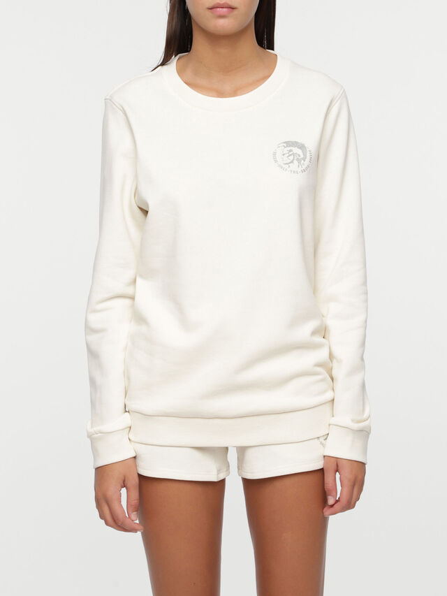 Diesel UFLT-WILLA, Blanc - Pull Cotton - Image 1