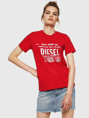 T-SILY-ZF, Rouge Flamme - T-Shirts