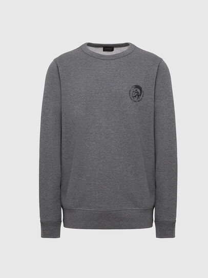 Diesel - UMLT-WILLY, Gris Chiné - Pull Cotton - Image 1