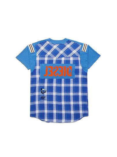 Diesel - D-WESTERNSPORT, Bleu Clair - T-Shirts - Image 2