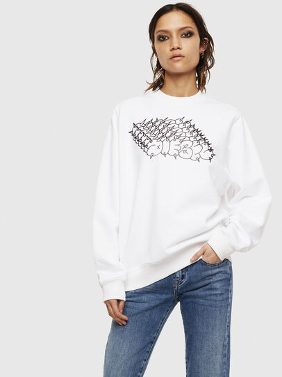 Diesel - F-ANG-S2, Blanc - Pull Cotton - Image 1