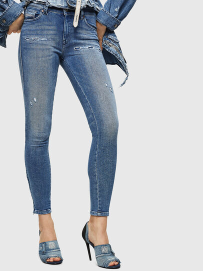 Diesel - Slandy Zip 083AP, Bleu moyen - Jeans - Image 1