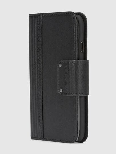 Diesel - BLACK LINED LEATHER IPHONE 8/7 FOLIO, Noir - Coques à rabat - Image 2