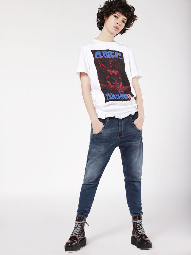 Diesel - Fayza JoggJeans 0699Y, Bleu moyen - Jeans - Image 4