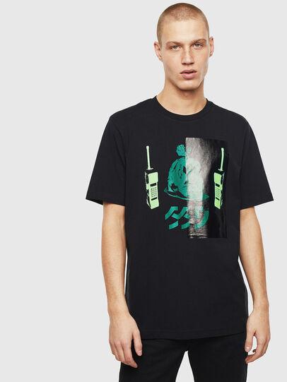 Diesel - T-JUST-T30, Noir - T-Shirts - Image 1
