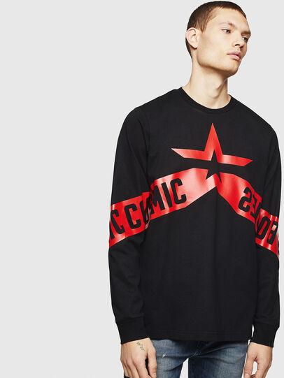 Diesel - T-JUST-LS-STAR, Noir - T-Shirts - Image 1