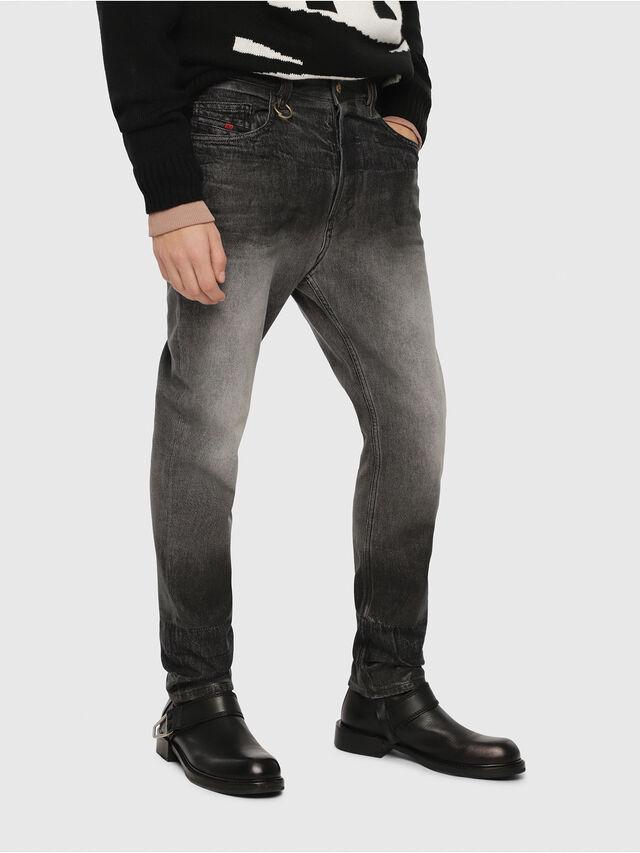 Diesel - D-Aygle 089AU, Noir/Gris foncé - Jeans - Image 1