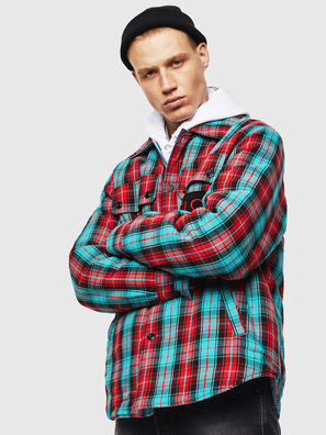 S-JOHNS, Vert/Rouge - Chemises