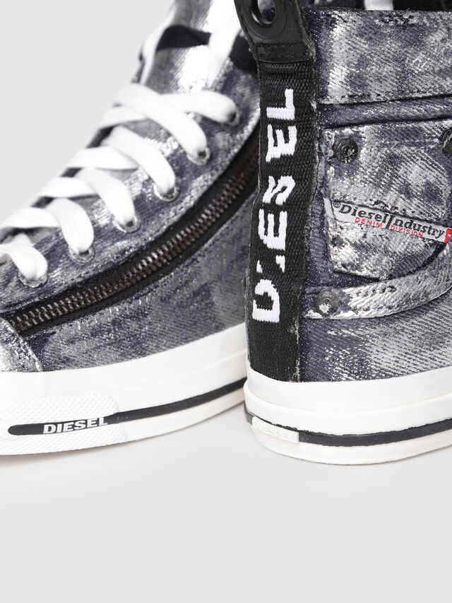 Diesel - EXPO-ZIP W, Gris argenté - Baskets - Image 4