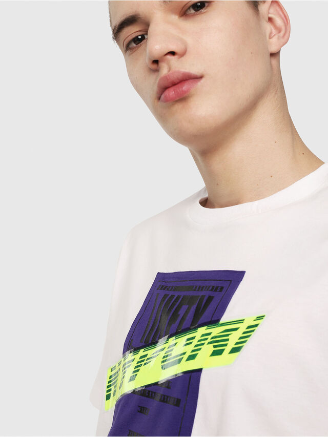 Diesel - T-JUST-Y7, Blanc - T-Shirts - Image 3